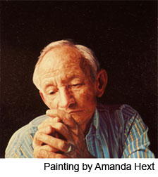 Painting of Ted Kooser by Amanda Hext